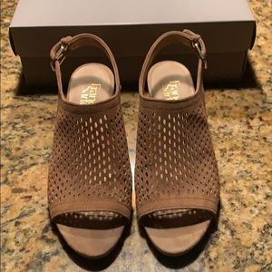 Worn once, FrancoSarto sandals, size 7